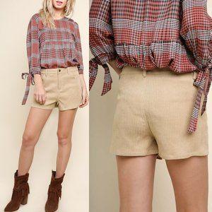Beige Corduroy Shorts {Umgee}